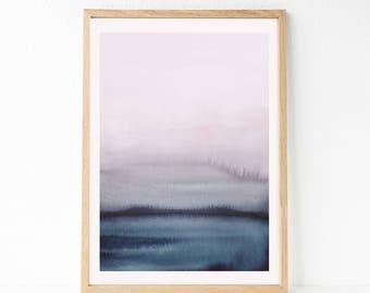 OVERSIZED Print, Large Watercolor PRINTABLE Art, 24x36 Abstract Printable Art, Large Wall Art, 24x36 Print, Bedroom Print