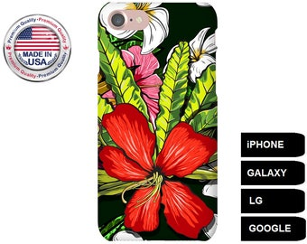 Tropical Flower Phone Case, Phone Case Flower, Flower iPhone Case, Flower Galaxy Case, Floral iPhone Case, Floral Galaxy Case, iPhone 7 Case