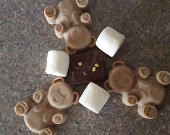 Marshmallow Brownie Bears Soap