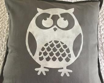 Cute Owl rustic pillow