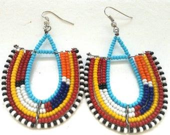 African beaded Earrings