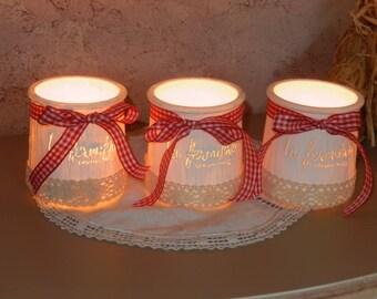 trio of candles spirit retro country chic