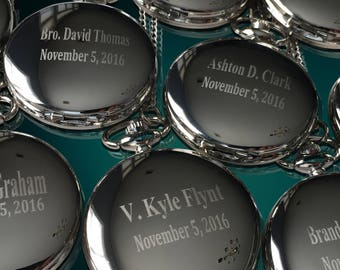 5 Personalized Pocket Watches - Groom gift - Groomsmen - Couples gift - Wedding gift set - Best Man - Man of Honor gift - Personalized gifts