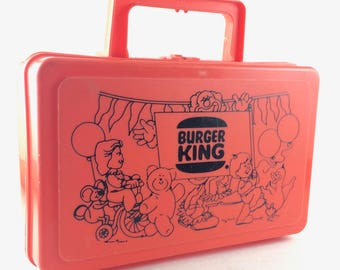 Plastic Burger King Lunch Box by Whirley Industries