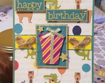 Gators and Alpacas Birthday Card