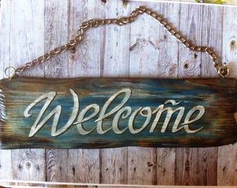 Welcome door sign board