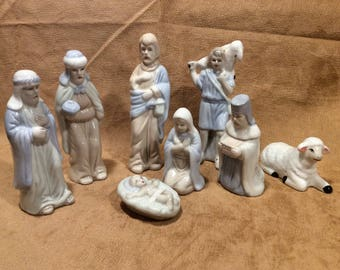 Vintage porcelain nativity set