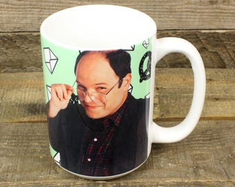 George Costanza Mug Seinfeld these pretzels are making me thirsty UH OH poisonous envelopes Gifts for Festivus Vandelay Industries