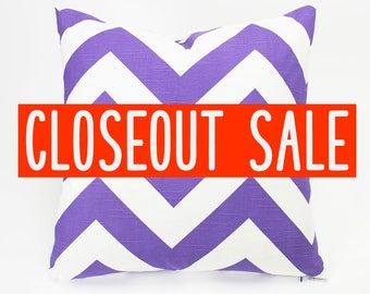 Zig Zag Pillow Cover - Chevron Pillow - Decorative Pillow - Purple Pillow Cover - Cushion Cover - Premier Prints - Zippy - CLOSEOUT SALE
