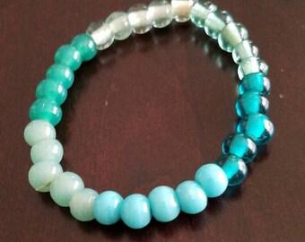 Shades of seafoam green bracelet