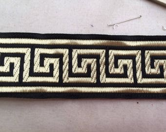Medieval 3.5 cm black and Gold Ribbon