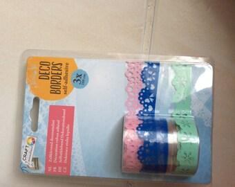 Tape scrapbooking 3 color by cut of 1 meter