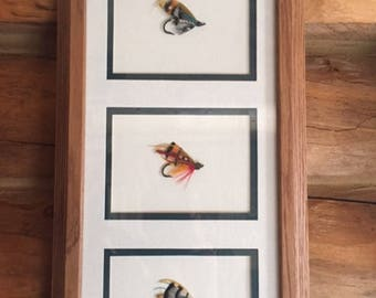 Framed Salmon Flies Classic