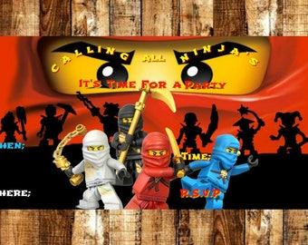 Lego Ninjago Birthday Party Invitation, Ninjago Invitation, Ninjago Birthday Party, Birthday Party Invitation, Ninjago Birthday Party Invite