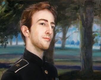 Custom Oil Portrait, Custom oil painting, Oil painting, Custom portrait on canvas, Commission portrait, Paintings from Phot