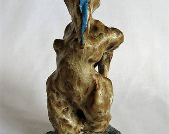 Small Sculpture- Birdwoman/Bird Woman/Unique ceramic sculpture