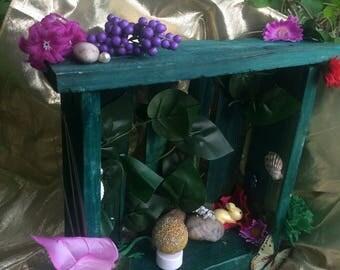 Green Upcycled Pallet Fairy Door