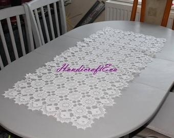 Handmade tablecloth, Crochet tablecloth, Crochet doily, Crochet lace, Christmas tablecloth, Coffee tablecloth, Runner, lace doily