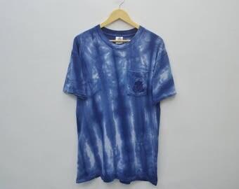 SAN DIEGO Shirt Vintage 90s SAN Diego Surfing Belton Tye Dye Single Pocket Shirt Mens Size L