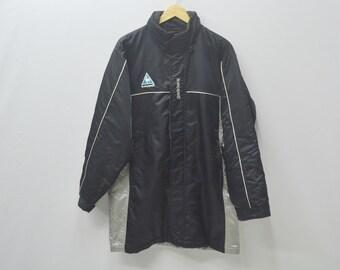 Lecoq Sportif Jacket Lecoq Sportif Sweater Vintage 90s Lecoq Sportif Colorblock Long Jacket Size M Jaspo