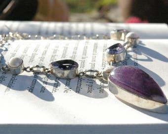 Amethyst, Kunzite necklace