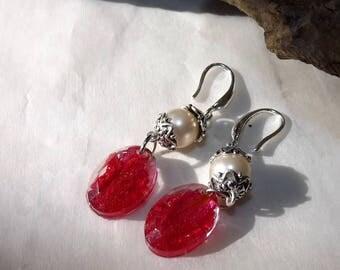 Grenadier petal earrings