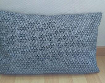 "Cushion cover ""SAKI"" black and white"
