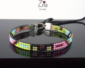 Woven bracelet Miyuki Paloma