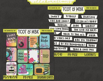 My Muse Digital Word Bits Journal Cards and Printables