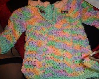 crochet baby sweater 6-12months