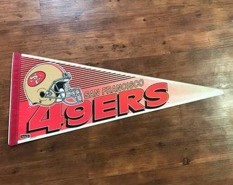 Vintage San Fransisco 49ers Pennant 1990's NFL Memorabilia