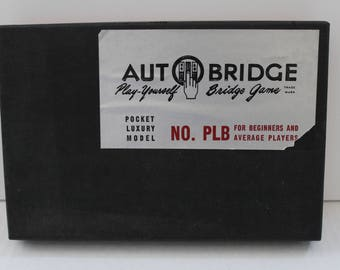 Vintage 1959 Auto Bridge No. PLB Bridge game