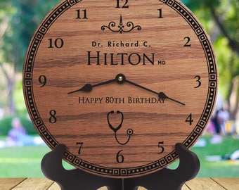 Personalized Doctors Gifts - Gifts For Doctors From staff - Gifts For Doctors From Nurses - Gifts for Physicians - Personalized Clocks
