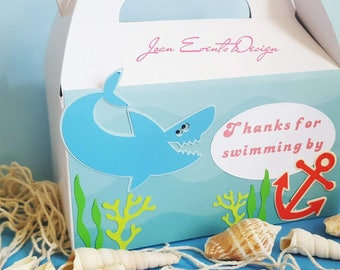 Shark Party Favors Boxes