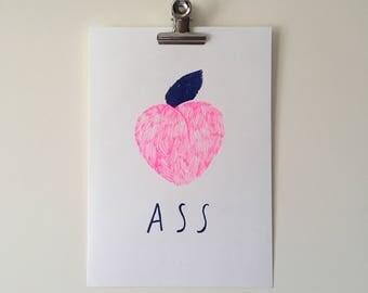 Peach A5 riso print