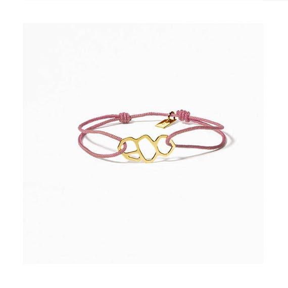 A DAY IN Marseille/Mucem rose link bracelet, gold