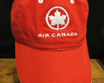 Air Canada Cap Hat Red Adjustable One Size Fits Most