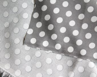 Oeko-Tex grey polka dot fabric
