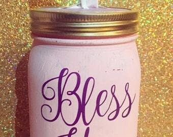 Bless you tissue jar