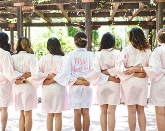 Personalized Robe / Glitter Bridesmaid Robe / Bridal Robes / Wedding Satin Robes / CL SOL