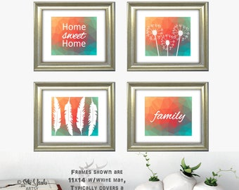 Home Sweet Home Gallery Wall Art Set of 4
