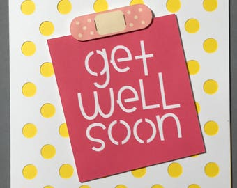 Get Well Soon Dimensional Card