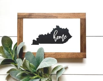 KY Home Wood Sign
