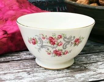 Sweet Little Pink Rosebud Sugar Bowl - Vintage - Royal Osborne