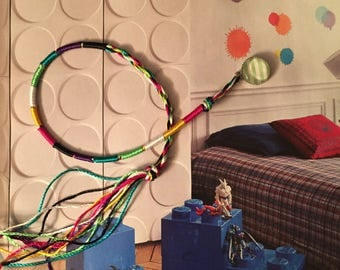 """Bracelet wire cotton fancy pattern """"multicolor"""""""