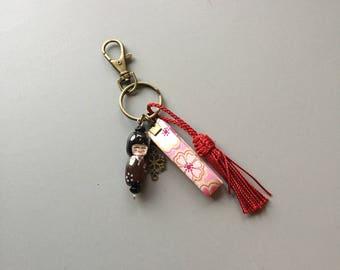 kokeshi of bag charm Keyring
