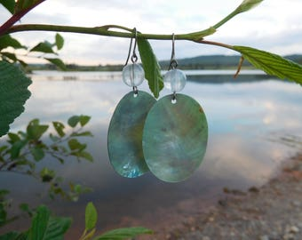 Waters Edge ~ Abalone Shell Earrings