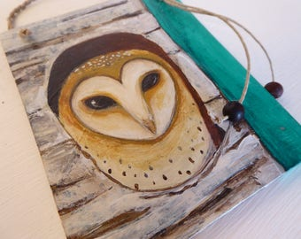 Little Owl ~ Original Art on Wood