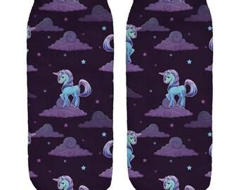 Night Unicorn Ankle Socks