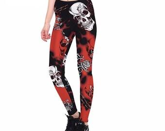 Gothic Skull Leggings